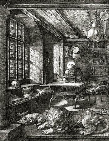 """Als das Licht ins Bild fiel: Albrecht Dürers Kupferstich """"Hieronymus im Gehäus"""""""